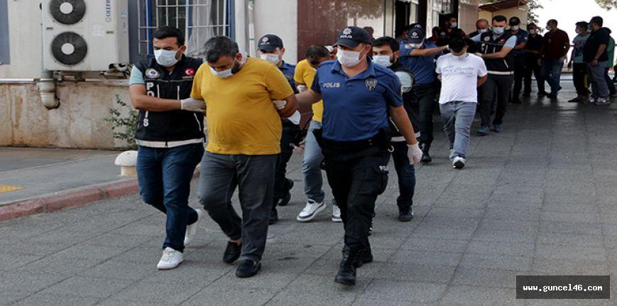Kahramanmaraş merkezli uyuşturucu operasyonunda 10 kişi tutuklandı