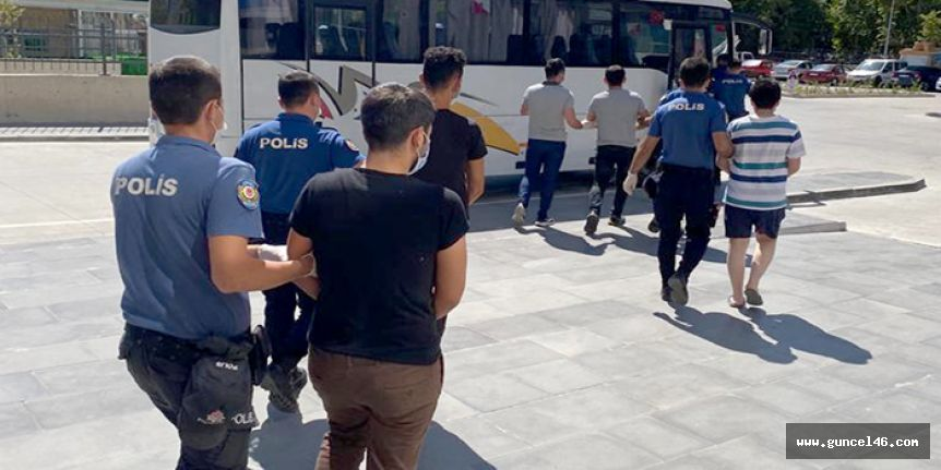 Kahramanmaraş'ta uyuşturucu operasyonu 5 kişi yakalandı