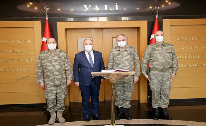 2. Ordu Komutanı Orgeneral Gürak'tan Vali Coşkun'a ziyaret