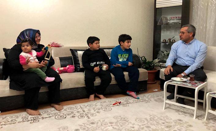 Şehit ailesiyle iftarda bir araya gelindi
