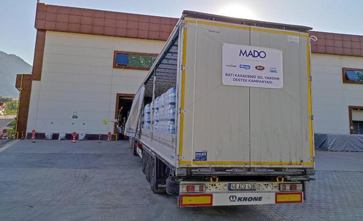 MADO'dan sel bölgesine 1 tır su yardımı