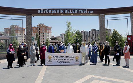 """AK Partili kadınlardan """"Bir Kap Su, Bir Kap Mama"""" kampanyası"""