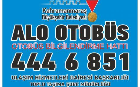'ALO OTOBÜS' HİZMETİNİZDE!