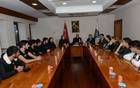 AZERBAYCAN MÜŞAVİRİ NESİBOVA'DAN REKTÖR CAN'A ZİYARET