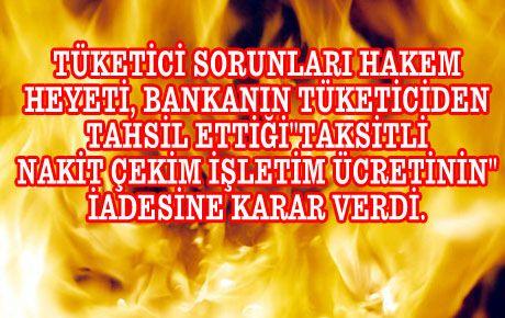 BİR RETTE BANKALARIN ALDIĞI NAKİT ÜCRETİNE