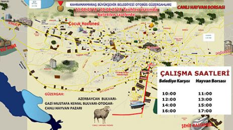 CANLI HAYVAN BORSASI'NA OTOBÜS SEFERİ
