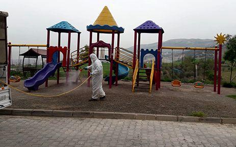 Dulkadiroğlu Belediyesi dezenfekte çalışmalarını sürdürdü