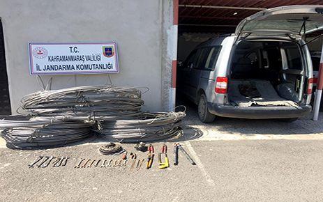 Enerji nakil kablosunu çalan 3 kişi yakalandı