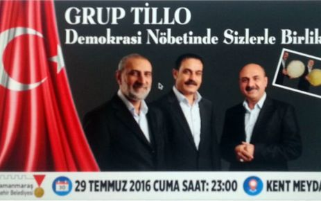GRUP TİLLO VE SENAİ DEMİRCİ KAHRAMANMARAŞ'TA