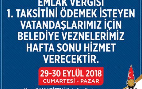 """""""HAFTA SONU VE ONLİNE HİZMET VERİLECEK"""""""