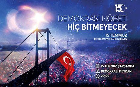 Kahramanmaraş'ta 15 Temmuz anma etkinliği