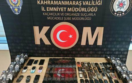 Kahramanmaraş'ta 327 kaçak cep telefonu yakalandı