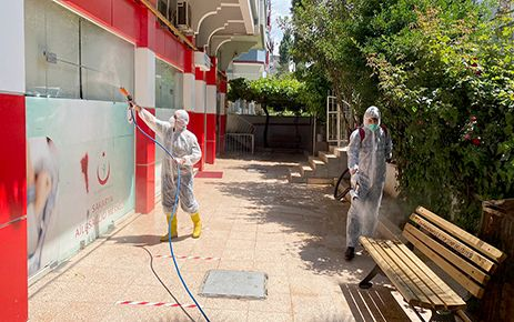 Kahramanmaraş'ta koronavirüsle mücadele