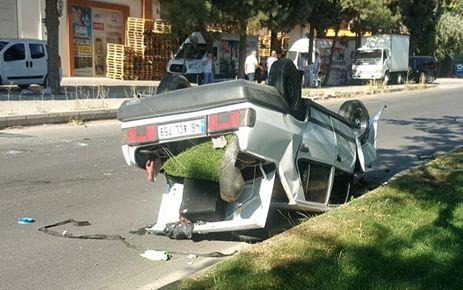Kahramanmaraş'ta otomobil ters döndü: 1 yaralı