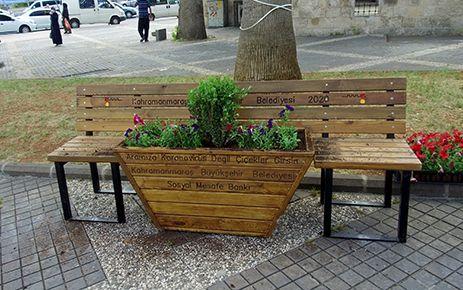 Kahramanmaraş'ta sosyal mesafe bankı
