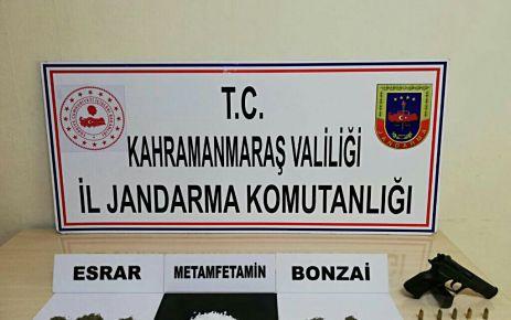 Kahramanmaraş'ta uyuşturucu operasyonları