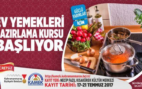 KAMEK'TEN EV YEMEKLERİ KURSU