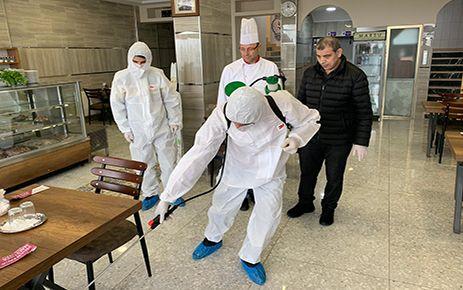 Kanbur'dan üye işlerine dezenfekte
