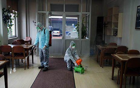 Koronavirüse karşı dezenfekte