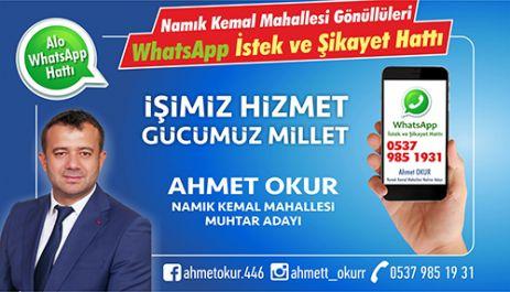"""NAMIK KEMAL MAHALLESİ GÖNÜLLÜLERİ WHATSAPP HATTI"""