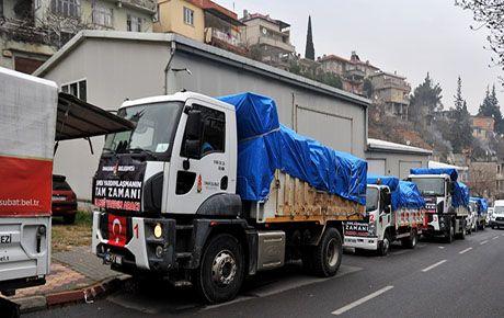 Onikişubat Belediyesi'nden, Elazığ'a yardım eli