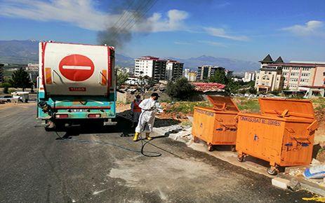 Onikişubat'tan çöp konteyneri hijyeni
