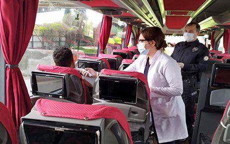 Otobüslerde koronavirüs tedbirleri