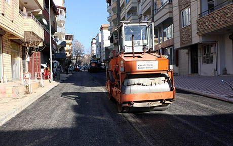 Pazarcık'ta sıcak asfalt çalışması
