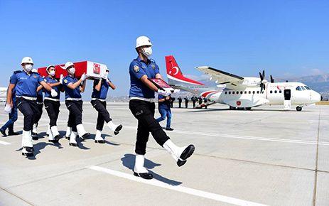 Şehidin cenazesi Kahramanmaraş'a getirildi