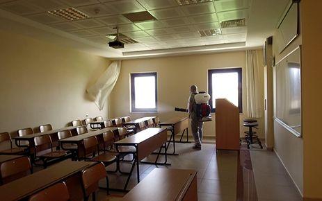 Sınav öncesi dezenfekte
