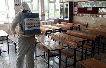 Okullarda dezenfekte çalışması