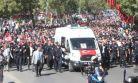 ŞEHİT  POLİS MEMURU HAKAN AKDERE SON YOLCULUĞUNA UĞURLANDI