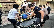 Kahramanmaraş'ta motosiklete çarpan