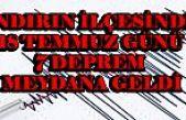 Andırın'da 1 günde 7 deprem oldu
