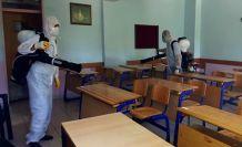 YKS sınavı öncesi okullarda dezenfekte