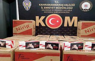 Kahramanmaraş'ta sigara kaçakçılarına operasyonu