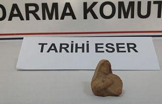 Demir Çağ dönemine ait heykel ele geçirildi