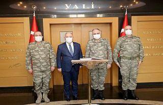 2. Ordu Komutanı Orgeneral Gürak'tan Vali Coşkun'a...