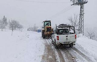 Karla mücadele devam ediyor