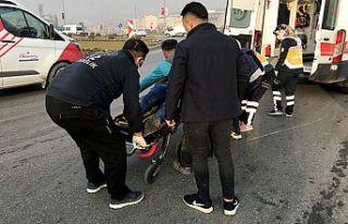 Motosiklet kazası: 1 yaralı