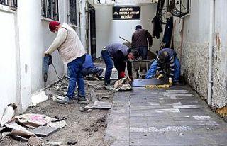 Dulkadiroğlu Belediyesi bazalt ve parke çalışmaları...