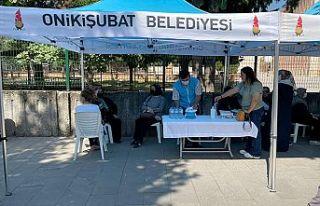 Onikişubat Belediyesi, sınavı sırasında ailelere...