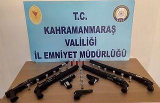 19 şüpheliden 19 silah ele geçirildi