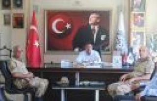 İL JANDARMA KOMUTANI'NDAN BAŞKAN ÇELEĞEN'E...