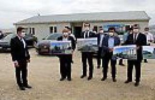 Kahramanmaraş milletvekilleri yurt inşaatını inceledi...