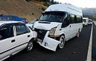 Kahramanmaraş'ta 4 araçlı zincirleme trafik kazası