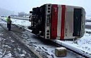 Kahramanmaraş'ta işçi servisi kaza yaptı: 9...