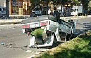 Kahramanmaraş'ta otomobil ters döndü: 1 yaralı...