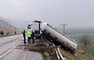 Kahramanmaraş'ta tanker kazası