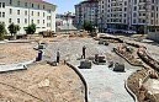 Pazarcık'taki park yapımı